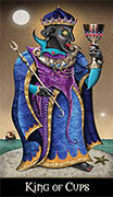 King of Cups Tarot card in Deviant Moon deck