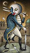 Five of Swords Tarot card in Deviant Moon deck
