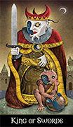 King of Swords Tarot card in Deviant Moon deck