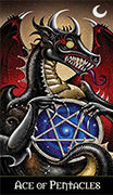 Ace of Coins Tarot card in Deviant Moon Tarot deck