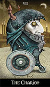 The Chariot Tarot card in Deviant Moon deck