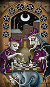 Ten of Coins Tarot card in Deviant Moon deck