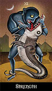 Strength Tarot card in Deviant Moon deck
