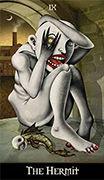 The Hermit Tarot card in Deviant Moon deck