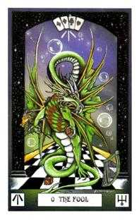 The Fool Tarot Card - Dragon Tarot Deck
