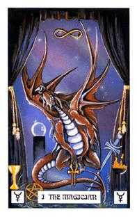The Magician Tarot Card - Dragon Tarot Deck