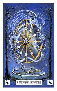 The Wheel of Fortune Tarot Card - Dragon Tarot Deck