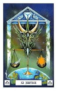 Justice Tarot Card - Dragon Tarot Deck