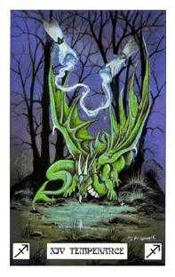 Temperance Tarot Card - Dragon Tarot Deck