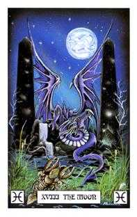 The Moon Tarot Card - Dragon Tarot Deck