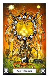 The Sun Tarot Card - Dragon Tarot Deck