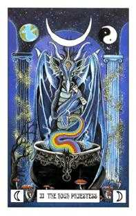 The High Priestess Tarot Card - Dragon Tarot Deck