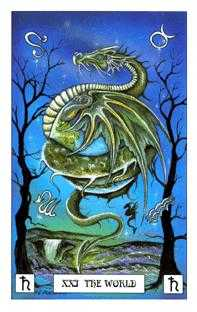 The World Tarot Card - Dragon Tarot Deck