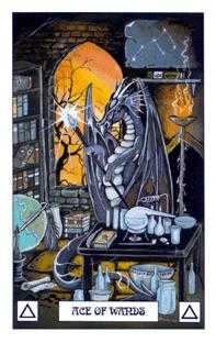 Ace of Staves Tarot Card - Dragon Tarot Deck