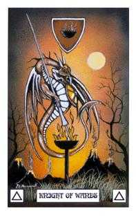 Knight of Batons Tarot Card - Dragon Tarot Deck