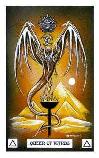 Queen of Rods Tarot Card - Dragon Tarot Deck