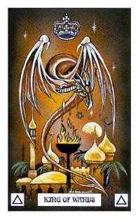 King of Staves Tarot Card - Dragon Tarot Deck