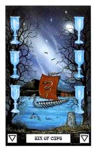 Six of Ghosts Tarot Card - Dragon Tarot Deck