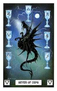 Seven of Bowls Tarot Card - Dragon Tarot Deck
