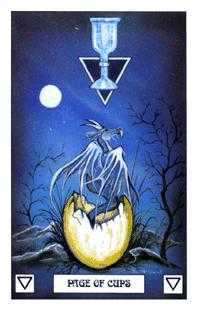 Page of Cauldrons Tarot Card - Dragon Tarot Deck