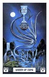 Reine of Cups Tarot Card - Dragon Tarot Deck
