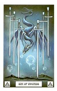 Six of Bats Tarot Card - Dragon Tarot Deck