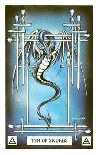 Ten of Swords Tarot Card - Dragon Tarot Deck