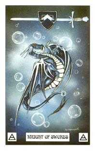 Knight of Swords Tarot Card - Dragon Tarot Deck