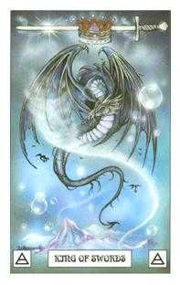 Roi of Swords Tarot Card - Dragon Tarot Deck