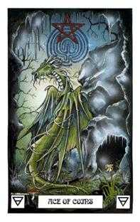 Ace of Coins Tarot Card - Dragon Tarot Deck