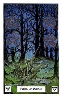 Four of Stones Tarot Card - Dragon Tarot Deck