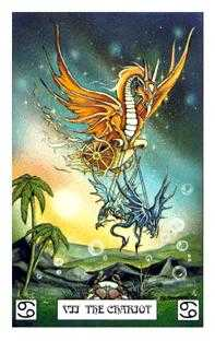 The Chariot Tarot Card - Dragon Tarot Deck