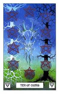 Ten of Diamonds Tarot Card - Dragon Tarot Deck