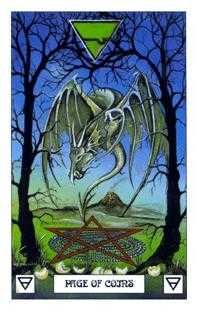 Princess of Coins Tarot Card - Dragon Tarot Deck