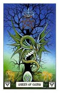 Queen of Pentacles Tarot Card - Dragon Tarot Deck