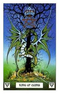 Roi of Coins Tarot Card - Dragon Tarot Deck