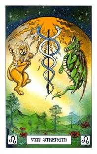 Strength Tarot Card - Dragon Tarot Deck