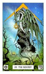 The Hermit Tarot Card - Dragon Tarot Deck