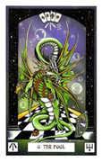 The Fool Tarot card in Dragon deck