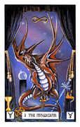 The Magician Tarot card in Dragon deck