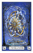 Wheel of Fortune Tarot card in Dragon deck