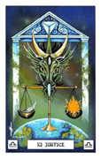 Justice Tarot card in Dragon deck