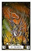 The Devil Tarot card in Dragon deck