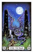 The Moon Tarot card in Dragon deck