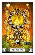 The Sun Tarot card in Dragon Tarot deck