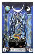 The High Priestess Tarot card in Dragon deck