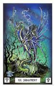 Judgement Tarot card in Dragon Tarot deck