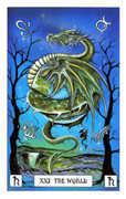 The World Tarot card in Dragon deck