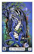 The Empress Tarot card in Dragon deck
