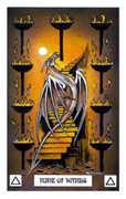 Nine of Wands Tarot card in Dragon deck